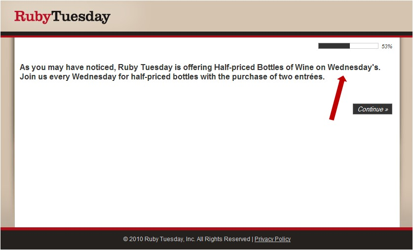 Www rubytuesday com survey